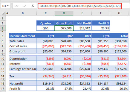 how to use excel XLOOKUP